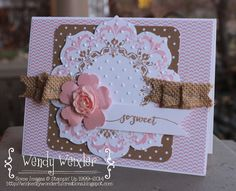 by Wendy: Daydream Medallions, Hello Life, Floral Frames framelits, Artisan Embellishment Kit, & more. All supplies from Stampin' Up! Daydream Medallions, Wondrous Wreath, Hanukkah Cards, Bee Cards, Scrapbook Cards, Scrapbooking, Cards For Friends, Card Tags, Stamping Up