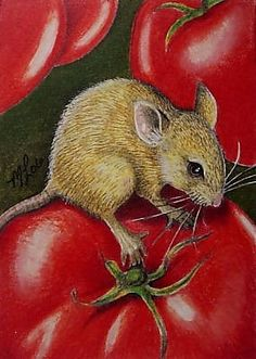 Mouse Wildlife Art Melody Lea Lamb ACEO Print by MelodyLeaLamb, $6.25