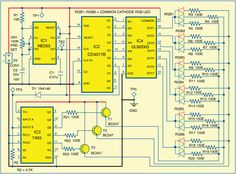 Seven-Colour LED Lighting Circuit Diagram Electrical Projects, Led Projects, Electronics For You, Electronics Projects, Led Cube Arduino, Simple Circuit, Electronic Schematics, Electronic Engineering, Electronic Circuit