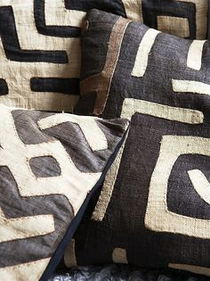 Kuba cloth. Lovely for sturdy pillows, recovering a bench, or even framed as art.