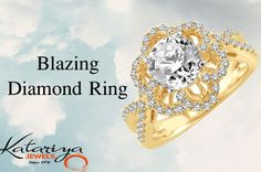 Imperial Diamond Ring in 18Kt Yellow Gold  Buy Now :http://buff.ly/1MxLW5i
