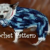 Crocheting: Four Legged Dog Sweater