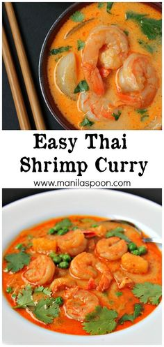 A quick and easy way to make the most delicious Thai Shrimp Curry. Spicy deliciousness guaranteed! Freeze if there are left-overs - if there's any! :)