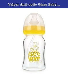 Vslyer Anti-colic Glass Baby Feeding Bottle,Yellow (5oz). Product Name: Anti-broken glass baby feeding bottles 120 ML Bottle Dimension: 2.5*5.3*2.5 inch 150ML Bottle Dimension: 2.5*6.3*2.5 inch 240ML Bottle Dimension: 4.0*7.3*2.8inche Package Method: paper box Quantity: 1 pcs Shipping Weight: 4ounce-220 gram 5ounce-260gram 8ounce-310gram More lighter than other glass baby bottle, easy to grip for baby Tags: BPA-free, wide caliber, medicine-grade nipple, shock resistant glass body…