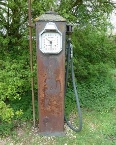 With time gas pumps changed and stations went from using the visible pump to a clock face pump. Description from gas-pumps-for-sale.com. I searched for this on bing.com/images