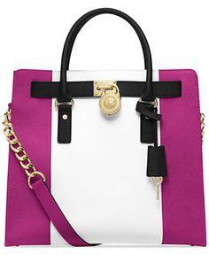 MICHAEL Michael Kors Hamilton Center Stripe Large Tote - Michael Kors Handbags - Handbags & Accessories - Macy's