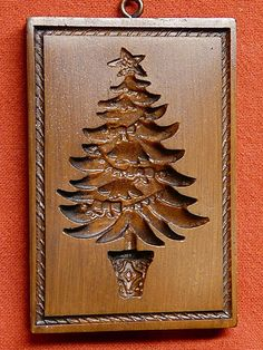 Springerle Christmas Tree Mold - always use wood molds. Pear is the best wood for molds.
