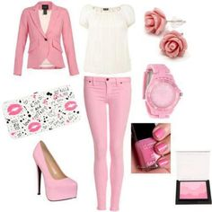 To much pink but nice ensemble anyway
