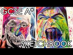 A* GCSE Fine ART Sketchbook Tour + Final Pieces - YouTube