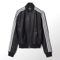 Awesome leather Adidas jacket