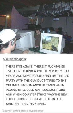 This LAN party should never be lost in history - Funny, Humor, LOL, Pics Stupid Funny, The Funny, Funny Stuff, Random Stuff, Funny Duck, Funny Things, Memes Humor, Nerd Humor, Lan Party