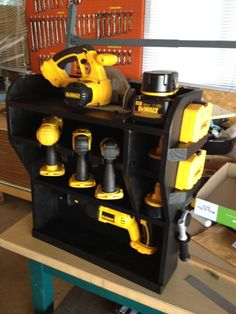 Awesome Cordless Power Tool Storage Idea
