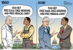 Borderline pro-slavery propaganda from r/Conservative Liberal Hypocrisy, Liberal Logic, Socialism, Political Memes, Political Cartoons, Politics Humor, Political Campaign, Political Issues, Truth Meme