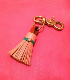 How to make your own leather tassel keychain