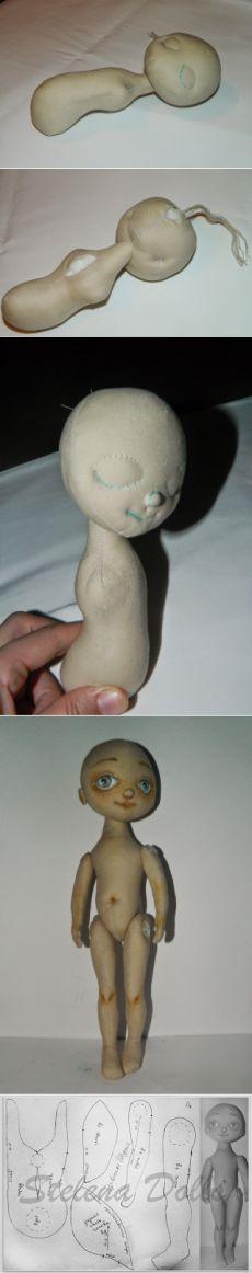 Мой Мааа...ленький блог Stelena Dolls: новая куколка...новая выкройка.