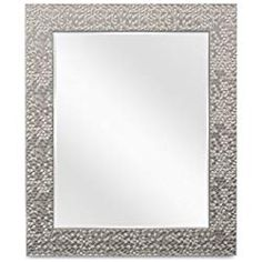 Wall Beveled Mirror Framed - Bedroom or Bathroom Rectangular frame Hangs Horizontal & Vertical By EcoHome Brushed Nickel) Mirror Ceiling, Home Decor Near Me, Basement Windows, Small Mirrors, Beveled Mirror, Table Toppers, Picture Wall, Decorating Your Home, Oversized Mirror