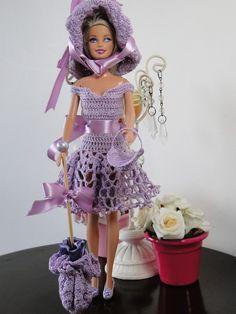 Barbie Crochê Miniaturas e Coisas Mais - De Tudo Um Pouco e Muito Mais: Vestido e Acessórios de Crochê Para Barbie Com Gráfico - 1000 Mailles Robes de Poupée