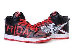Nike Dunk SB Custom Friday the Jason Voorhees Black Red Jason Voorhees, Nike Sb Dunks, Custom Shoes, High Tops, Air Jordans, Kicks, Friday, My Style, Sneakers
