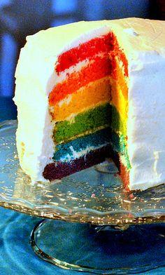 Food And Drink, Favorite Recipes, Rainbow, Blog, Foods, Cakes, Rain Bow, Food Food, Rainbows