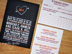 School Theme  Wedding Invitations. Chalkboard