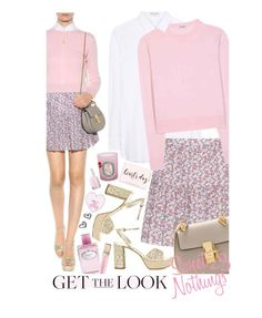 """""""Get The Look: Sweet Nothings"""" by hollowpoint-smile ❤ liked on Polyvore featuring Miu Miu, Yves Saint Laurent, Chloé, Prada, Diptyque, Finn, Essie, women's clothing, women and female"""