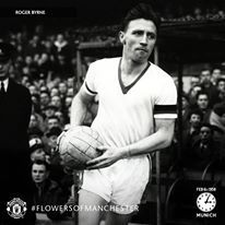 Roger Byrne, aged 28. Club captain, England international and a rock-solid defender. #flowersofmanchester ♥