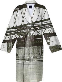 Vintage Wuppertal Floating Train Photo Bathrobe from Print All Over Me