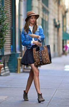 64197028f Miranda Kerr Ankle Boots Celebrity Style Women s Fashion by How Celebs Wear  It