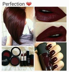 New hair color burgundy cranberry Ideas - Hairstyles For All Makeup Tips, Eye Makeup, Hair Makeup, Makeup Products, Makeup Ideas, Beauty Products, Maquillage Kylie Jenner, Beauty Make Up, Hair Beauty