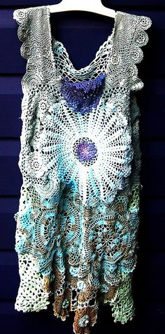 LOVE.. Fab summer dress in freeform crochet style