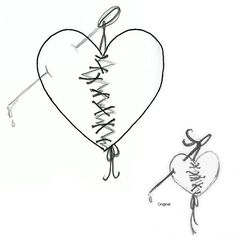 Open heart surgery tattoo, I like this concept, just not