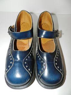 2c20efcb4b8 DR MARTENS Mary Janes Blue UK Sz 6 US Sz 8 Vintage VTG