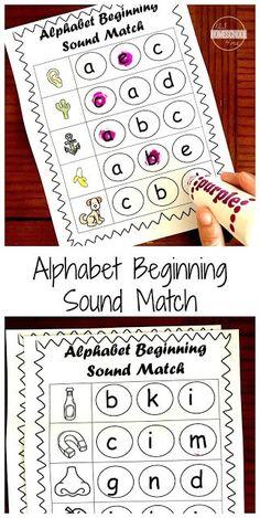 Beginning Sounds Kindergarten, Beginning Sounds Worksheets, Kindergarten Addition Worksheets, Phonics Worksheets, Kindergarten Phonics, Preschool Alphabet, Literacy, Alphabet Phonics, Shapes Worksheets
