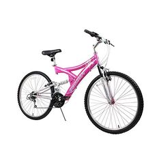 Mountain Bikes - Dynacraft Womens 26 21 Speed Air Blast Bike 175One Size PinkWhite >>> Visit the image link more details.
