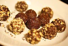 Medovníčkové koule s hořkou čokoládou
