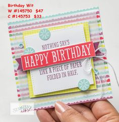 Exciting new products begin with the gorgeous 2018 Occasions Catalogue.  I love the fun Birthday Wit set.  All available to order online in my store now at www.jennyhayward.stampinup.net  Australian residents only.  #astampingjourney