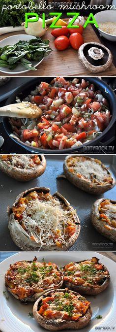 Portobello Mushroom Pizza