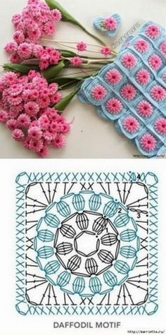 Transcendent Crochet a Solid Granny Square Ideas. Inconceivable Crochet a Solid Granny Square Ideas. Motifs Granny Square, Crochet Motifs, Crochet Blocks, Granny Square Crochet Pattern, Crochet Diagram, Crochet Stitches Patterns, Crochet Squares, Crochet Chart, Knitting Patterns