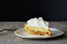 Bill Smith's Atlantic Beach Pie Recipe on Food52, a recipe on Food52 Köstliche Desserts, Delicious Desserts, Dessert Recipes, Easy Pie Recipes, Sweet Recipes, Lemon Recipes, Cooking Recipes, Atlantic Beach Pie, Saltine Crackers