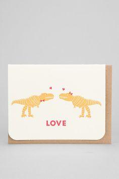 Carolyn Suzuki Dino Love Card #urbanoutfitters