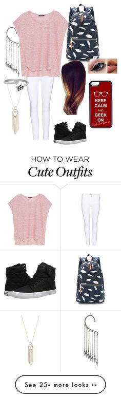 """""""BTS outfit ideas day 20"""" by lilacbee on Polyvore featuring Frame Denim, Violeta by Mango, Rebecca Minkoff, Herschel Supply Co., Jewel Exclusive, Supra and CellPowerCases"""