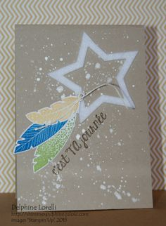 Shimmer and Shine - It's your day! Masculine Bday Card - Four, Feather Cards, Owl Card, Star Cards, Shimmer N Shine, Scrapbook Cards, Scrapbooking, Masculine Cards, Card Tags, Stamping Up