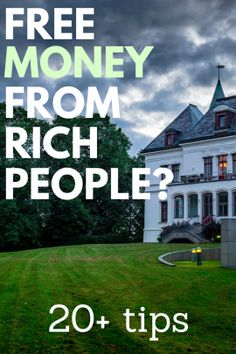 Want free money from rich people fast? Well, it's kind of possible, but it may take some work. Dive in and see how it's done. Make Money Now, Earn Money From Home, Earn Money Online, How To Raise Money, Quick Money, Money Tips, Money Saving Tips, Money Hacks, Money Budget