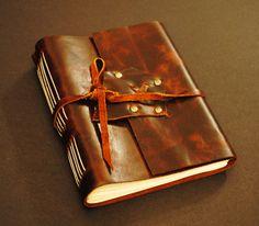 Handmade Leather Bound Venetian Writing Journal