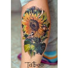 40 Newest Sunflower Tattoo Ideas For You - Tattoos - Sunflower Tattoo Meaning, Sunflower Tattoo Small, Sunflower Tattoos, Sunflower Tattoo Design, Top Tattoos, Black Tattoos, Body Art Tattoos, Sleeve Tattoos, Tattoos For Guys