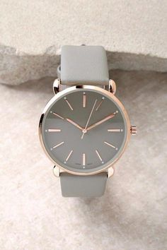 Watch the Clock Rose Gold and Grey Watch 3 - Watches women fashion - Fancy Watches, Elegant Watches, Beautiful Watches, Cool Watches, Watches For Men, Luxury Watches, Rose Gold Watches, Nixon Watches, Simple Jewelry