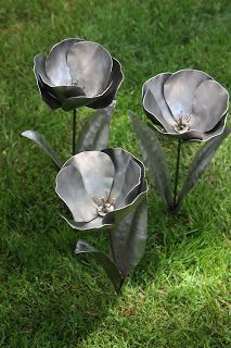 Bad Hammer Metalworks: Trio of tulips