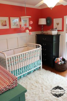 I love the look of this room. If we ever redo a room for baby girl, this might be the look i want!
