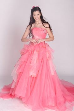 Organza Ball Gown Fancy Color Wedding Dress. This is awesome.