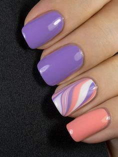 Picture Polish Wisteria & Peaches 'n Cream - Holiday nails - halloween nails Purple Nail Designs, Acrylic Nail Designs, Acrylic Nails, Nail Designs Spring, Picture Polish, Stylish Nails, Trendy Nails, Purple Nails, Purple Nail Polish